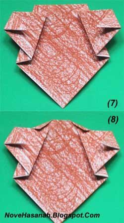 cara melipat kertas origami untuk membuat origami wajah beruang. Origami wajah beruang ini sangat cocok untuk diajarkan untuk anak-anak yang duduk di kelas rendah (1, 2, dan 3) SD. 4