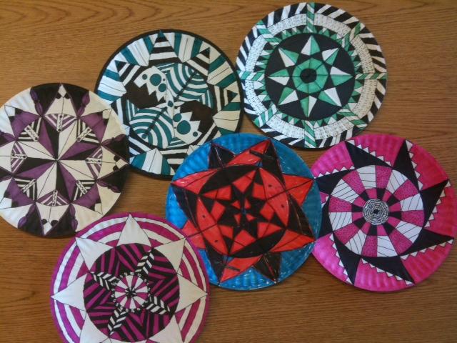 Paper Plate Mandalas & oodles of doodles: Paper Plate Mandalas