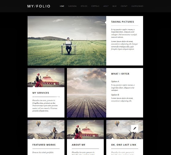 MY FOLIO Responsive Photography Joomla Template
