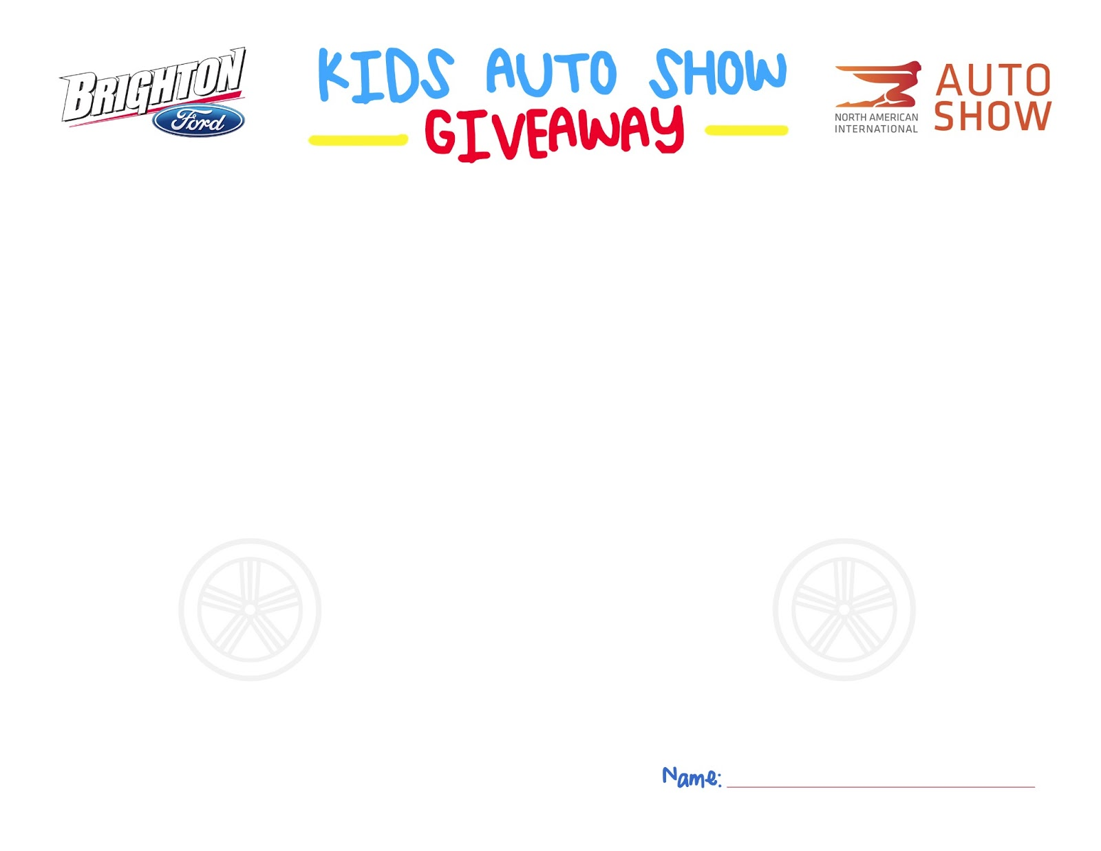 Detroit Auto Show Ticket Giveaway