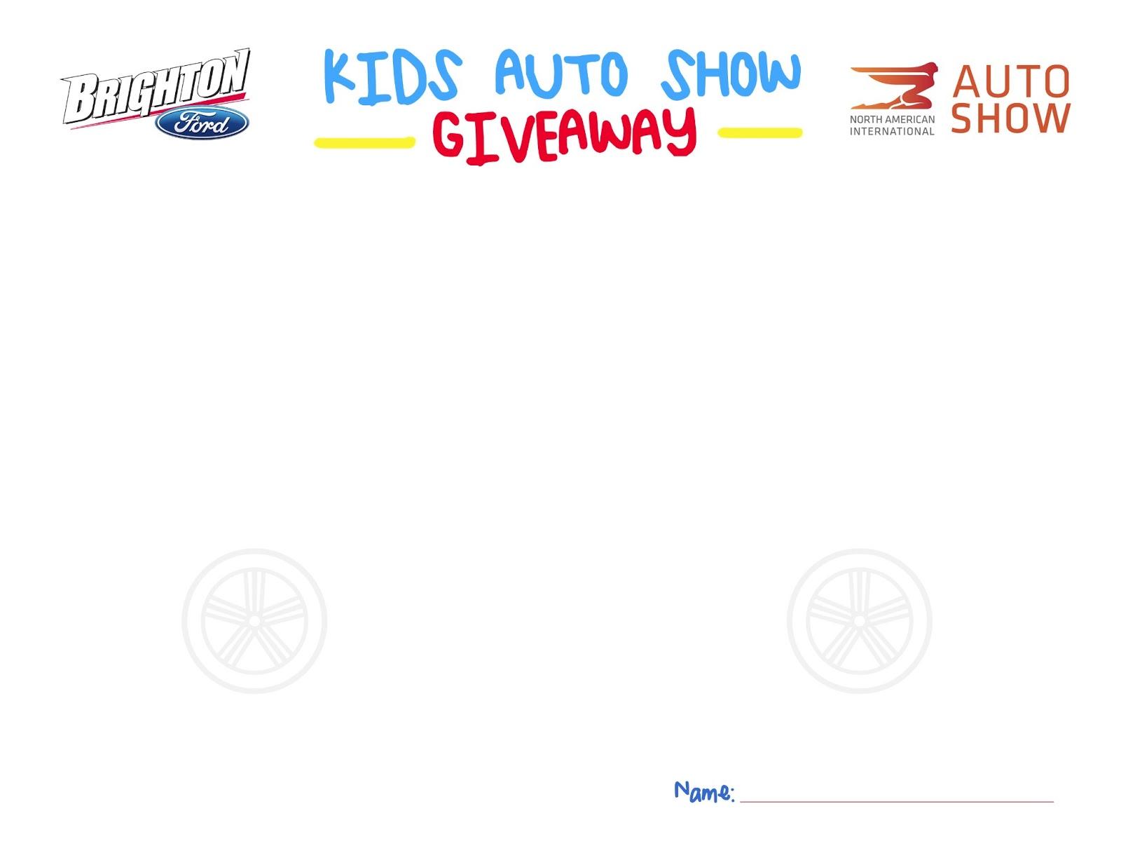Detroit Auto Show Ticket Giveaway