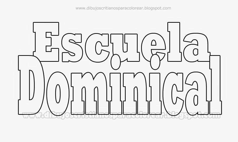 Escuela Dominical - Dibujos Cristianos para colorear ...