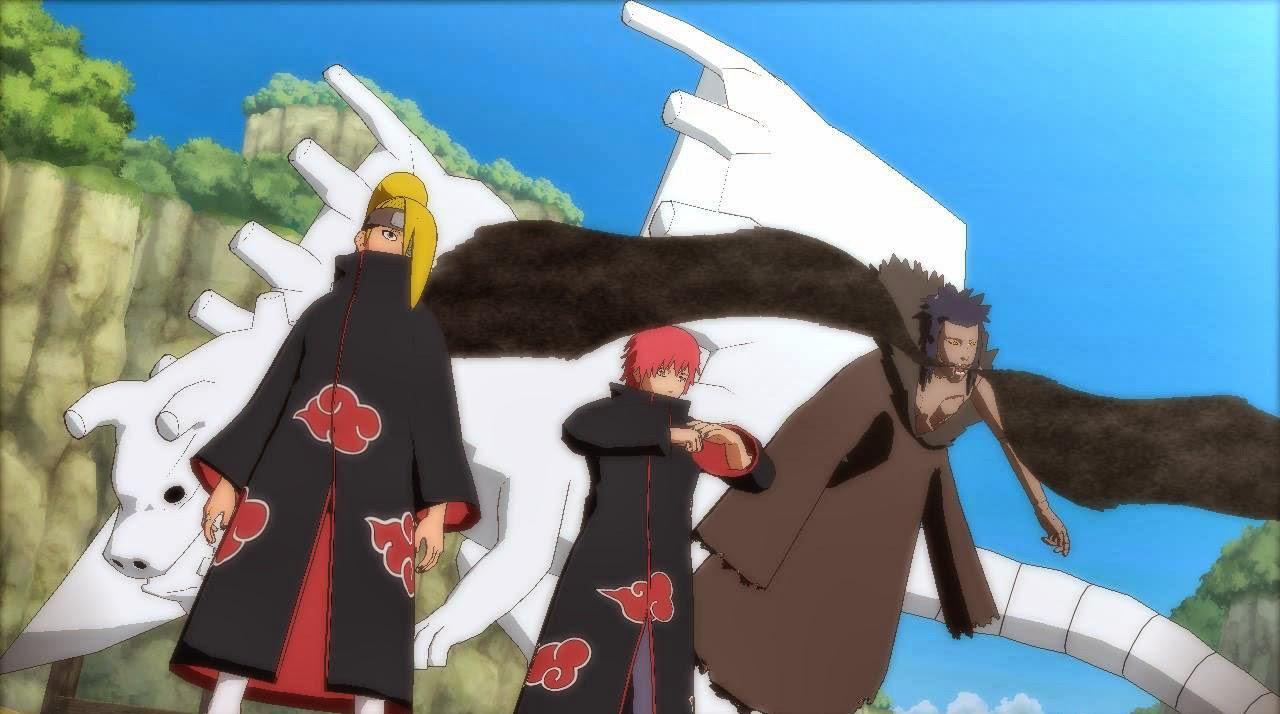 Sasori and Deidara C2 Dragon Ultimate Team Jutsu Storm Revolution