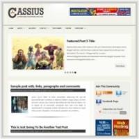cassius blogger template