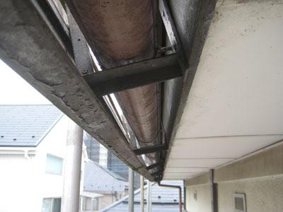 東京都府中市 屋根修理 軒天 破風板 雨樋 設置 工事 施工前点検