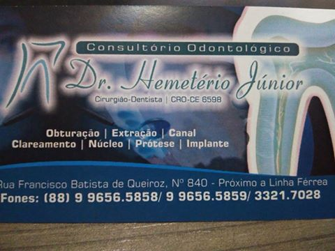 CONSULTÓRIO ODONTOLÓGICO DR.HEMETÉRIO JÚNIOR
