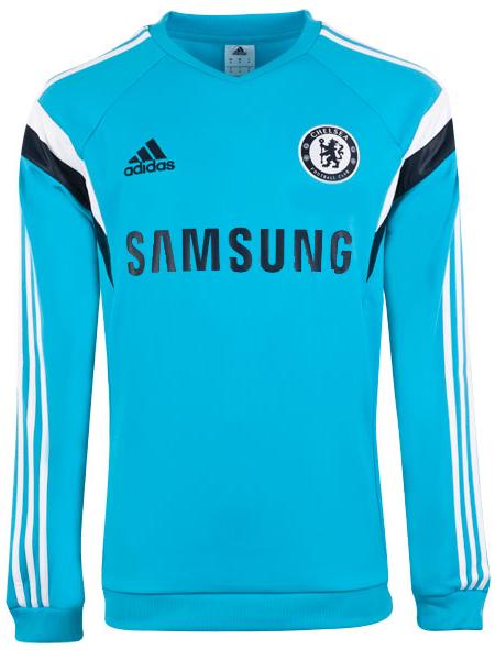 Sweater Training GO Chelsea Light Blue 2014 - 2015 Gambar Katalog Depan