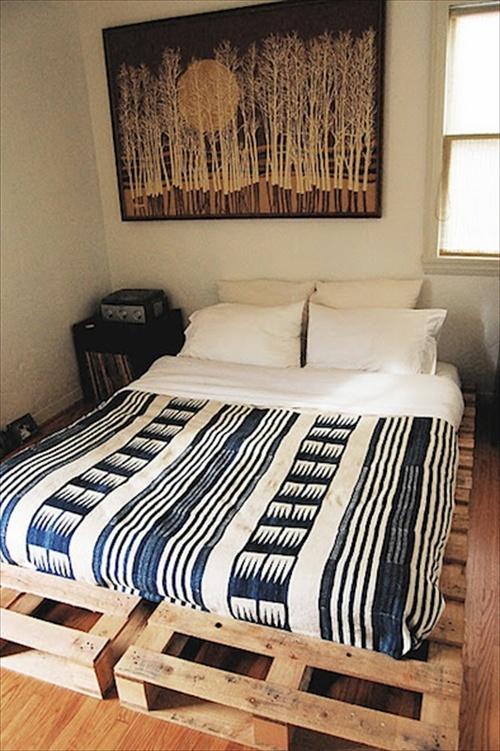 Pallet Bed Frame Plans Pallet Furniture Ideas