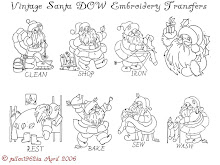 Vintage Santa Embroidery designs
