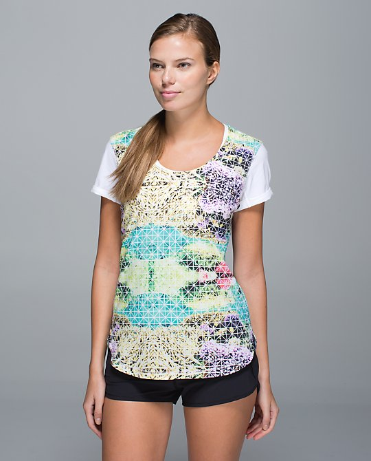 lululemon lightened up short sleeve paradise grid
