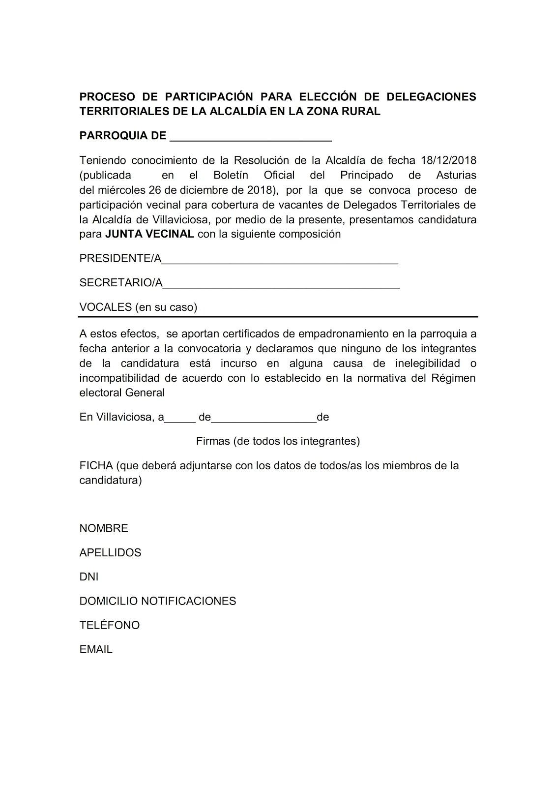 NOTA DE LA ASOCIACIÓN DE VECINOS DE QUINTES
