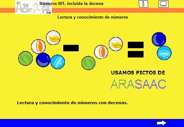 Captura de la primera página de una de las actividades
