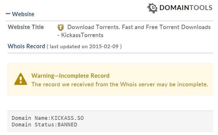 KickAss Torrent Download Website Seized