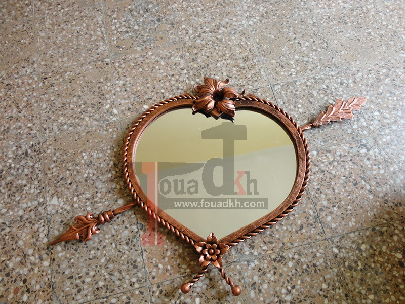 طريقة بسيطة لصنع مرآة من الحديد على شكل قلب