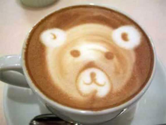Latte Art Designs : Sia mckye over coffee goddess of wolves and bears—terry spear