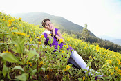 Hari priya photo shoot among yellow folwers-thumbnail-16