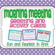 Morning meeting cards fun and fearless in first m4hsunfo