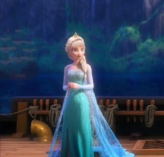 Gambar gratis Elsa Frozen galau