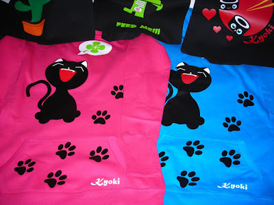 kawaii t-shirt cat gatto neko kyoki