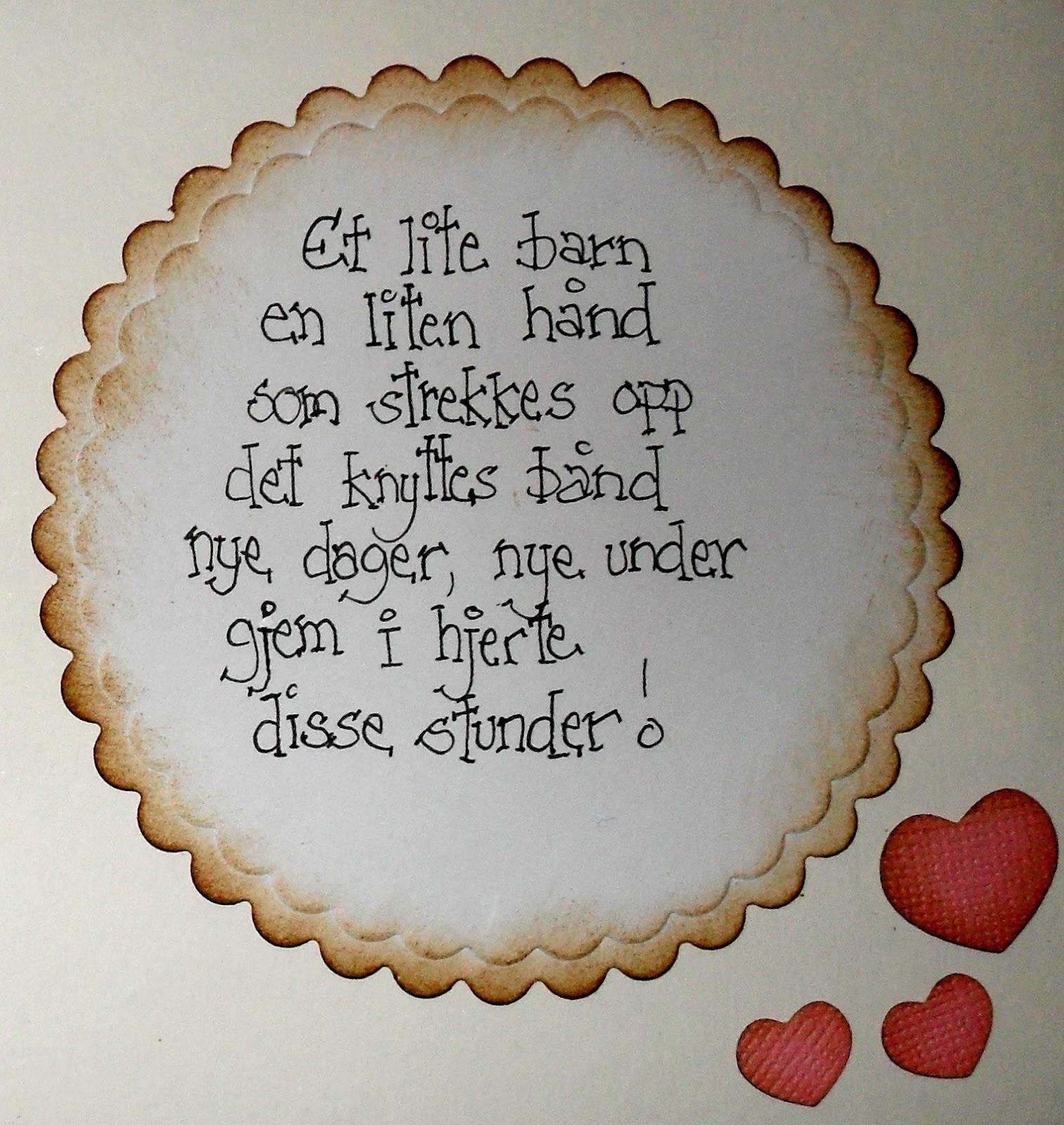 grattis till baby dikt