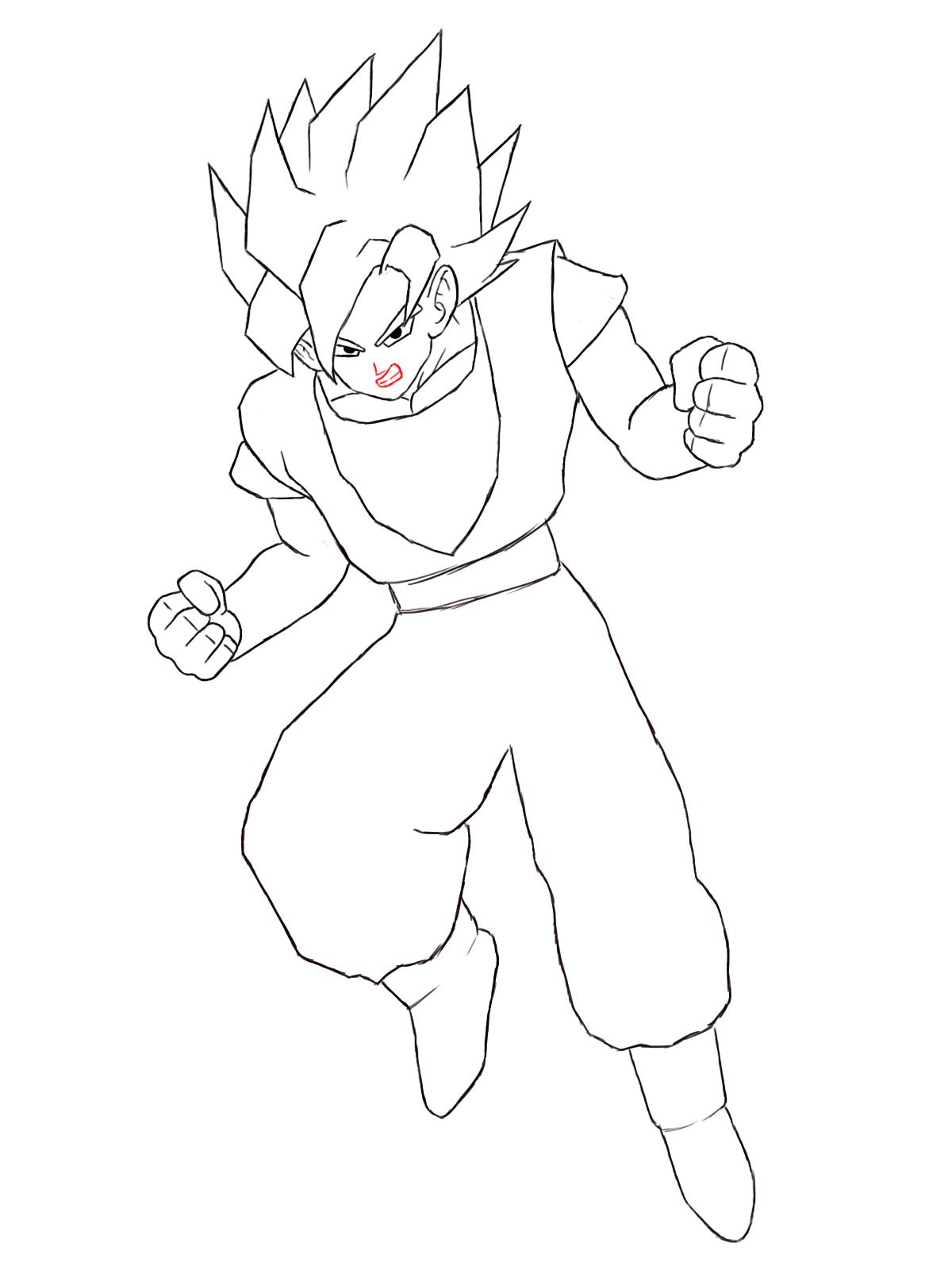 How to draw goku draw central