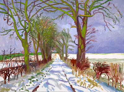 David Hockney - Tunnel enneigé en hiver, mars 2006