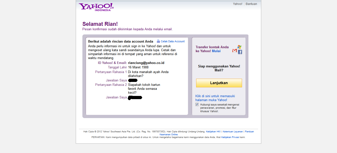 Cara Membuat Email di Yahoo | Ciungtips™