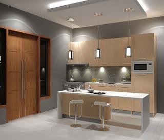 Desain kitchen set model i terbaru