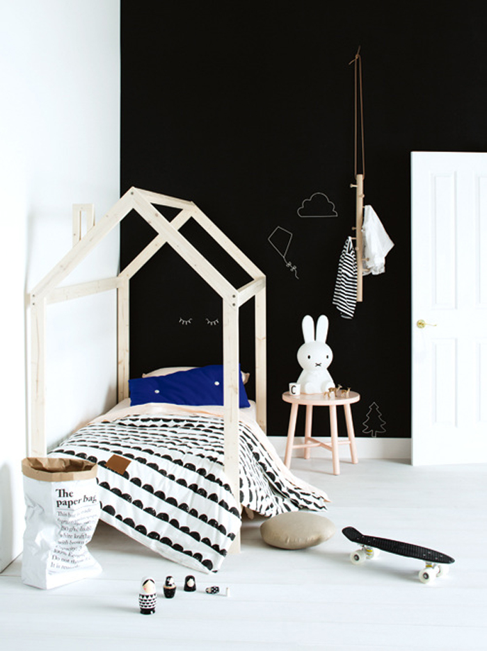 black&white kids room -  styling Jessica Hanson for Australian InsideOut magazine