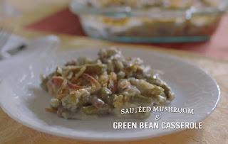 auteed mushroom green bean casserole