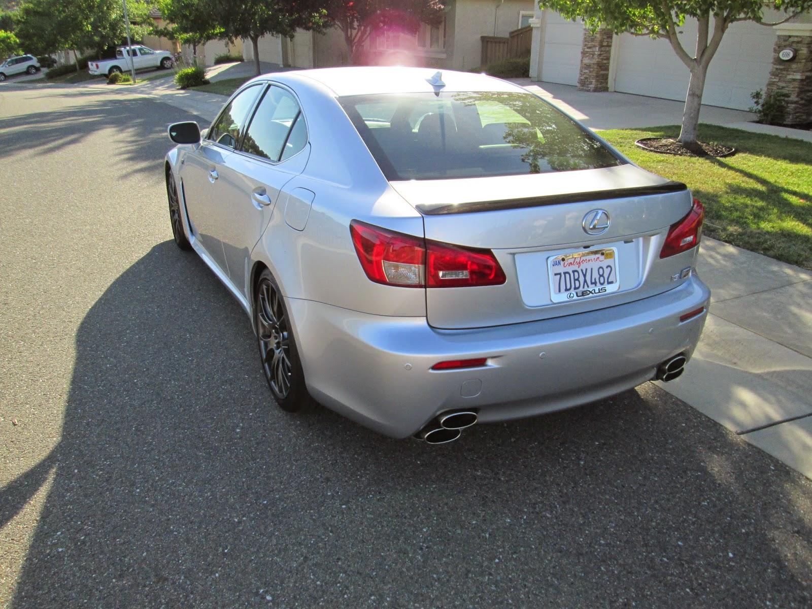 Rear 3/4 view of 2014 Lexus IS-F