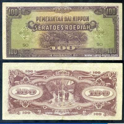 Uang kuno Jepang Seratoes Roepiah