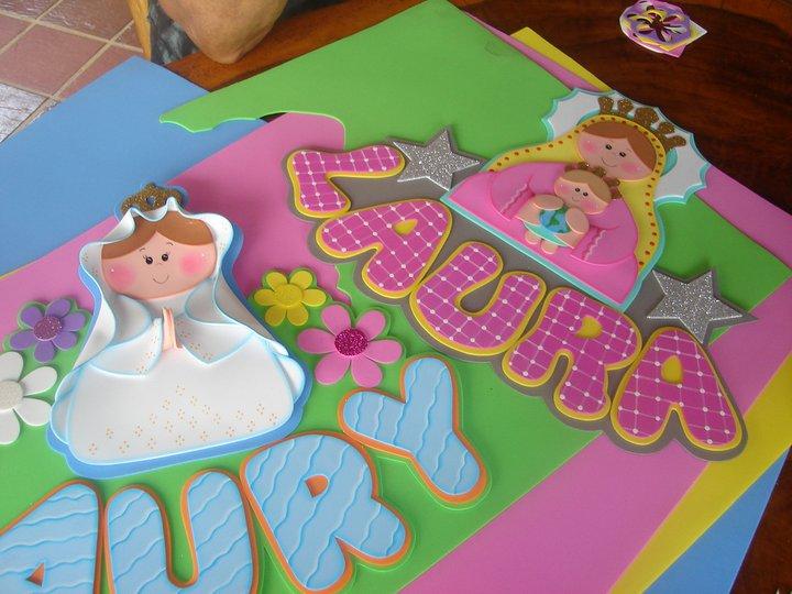 todo foami: Nombres en foami (fiestas, baby shower, bautizo...)