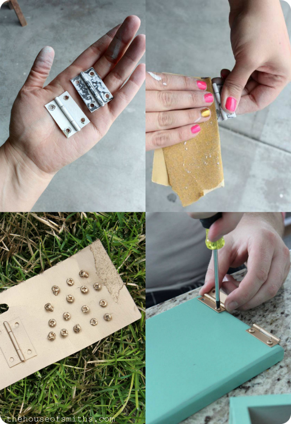 How to spray paint metal hardware - thehouseofsmiths.com