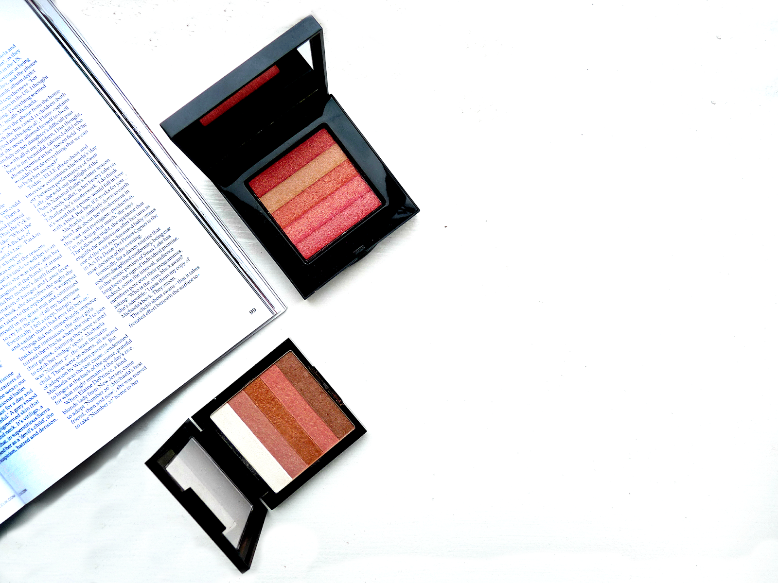 bobbi brown shimmer brick v vs revlon highlighting palette dupe splurge or save review comparison beauty makeup youwishyou