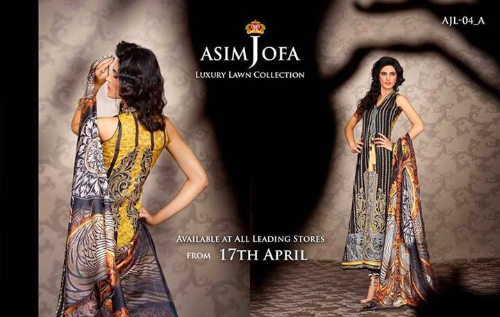 Asim Jofa Luxury Lawn Dresses 2014
