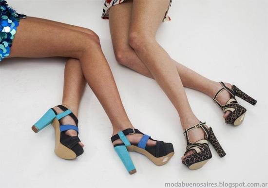 Zapatos Jow Alto verano 2013. Moda 2013.