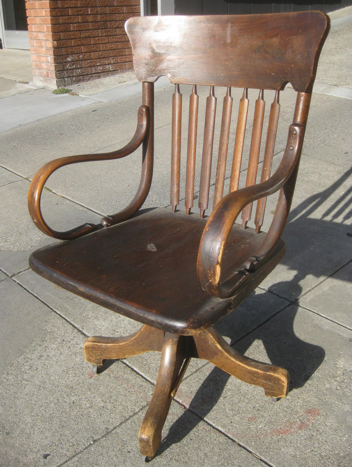 UHURU FURNITURE & COLLECTIBLES: SOLD - Wooden Office Chair - $25