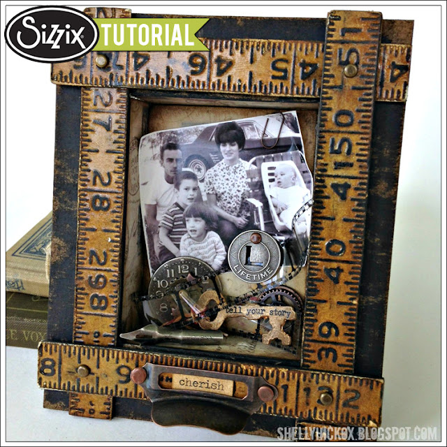 Sizzix Die Cutting Tutorial: Faux Ruler Shadowbox Frame by Shelly Hickox