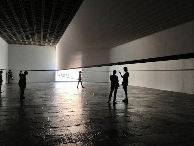Robert Irwin, Scrim Veil -- Black Rectangle -- Natural Light, Whitney Museum 2013