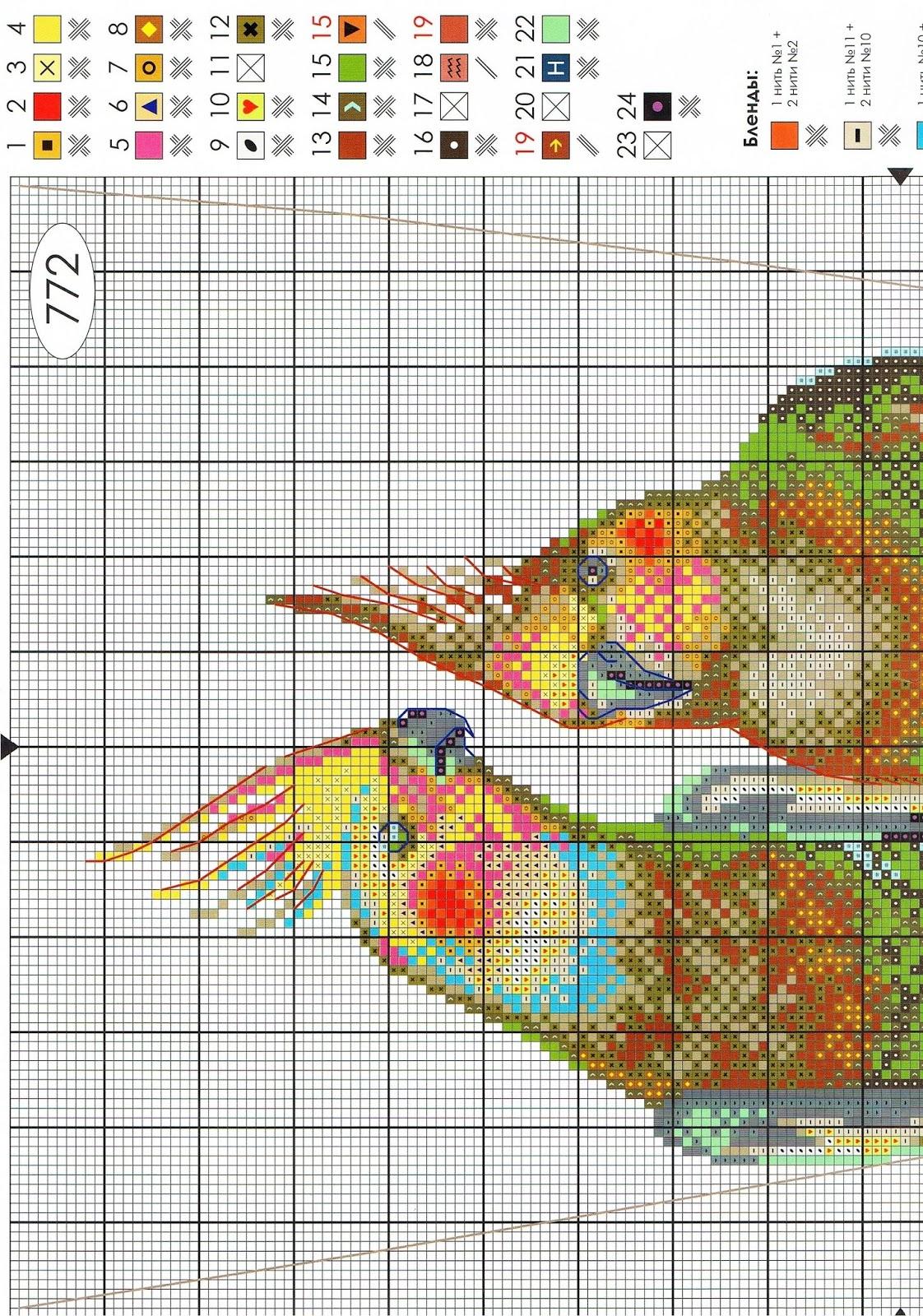 Схема вышивка на качелях