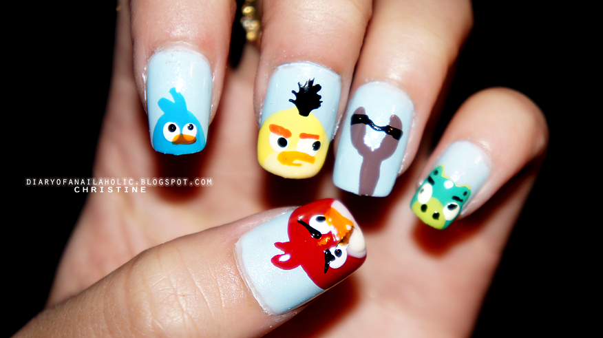 Diary of a nailaholic: Angry Bird Nails