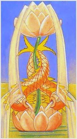 symbol lotosu w kartach tarota