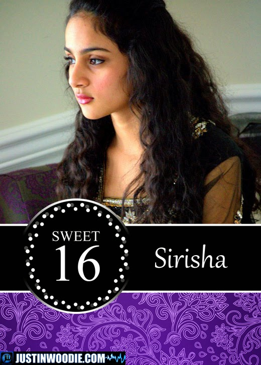 Sirisha's Sweet 16 Birthday Invitation Graphic Design