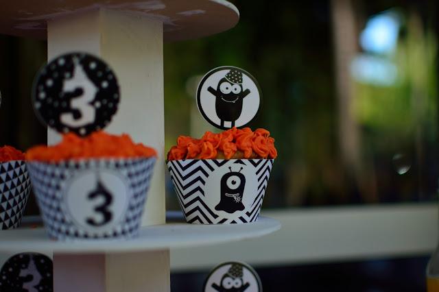 cupcake cumpleaños monstruos