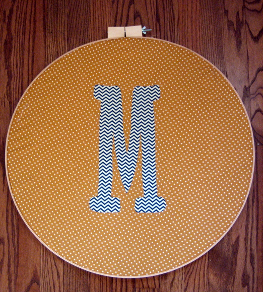 embroidery hoop with monogram