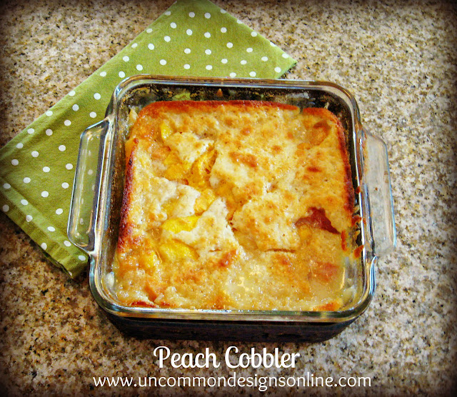 The Best and easiest homemade peach cobbler recipe ever! So simple to make and so good! #peaches #peachrecipe #cobbler