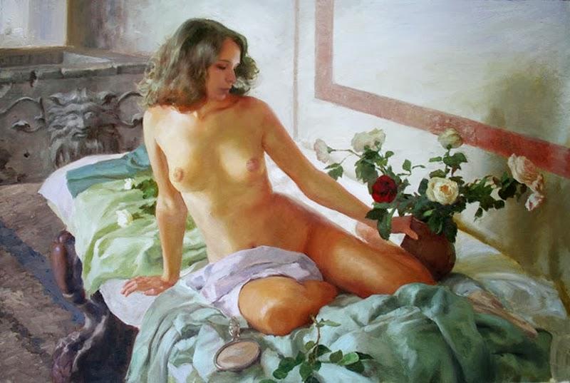 D.W.C. Woman is the Flower - Painter Dmitry Kalyuzhny