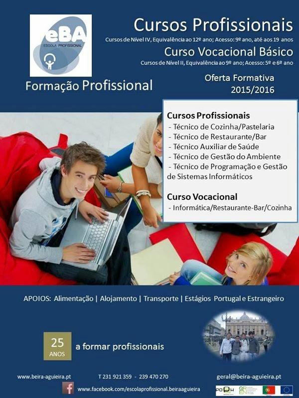 cursos profissionais em Mortagua