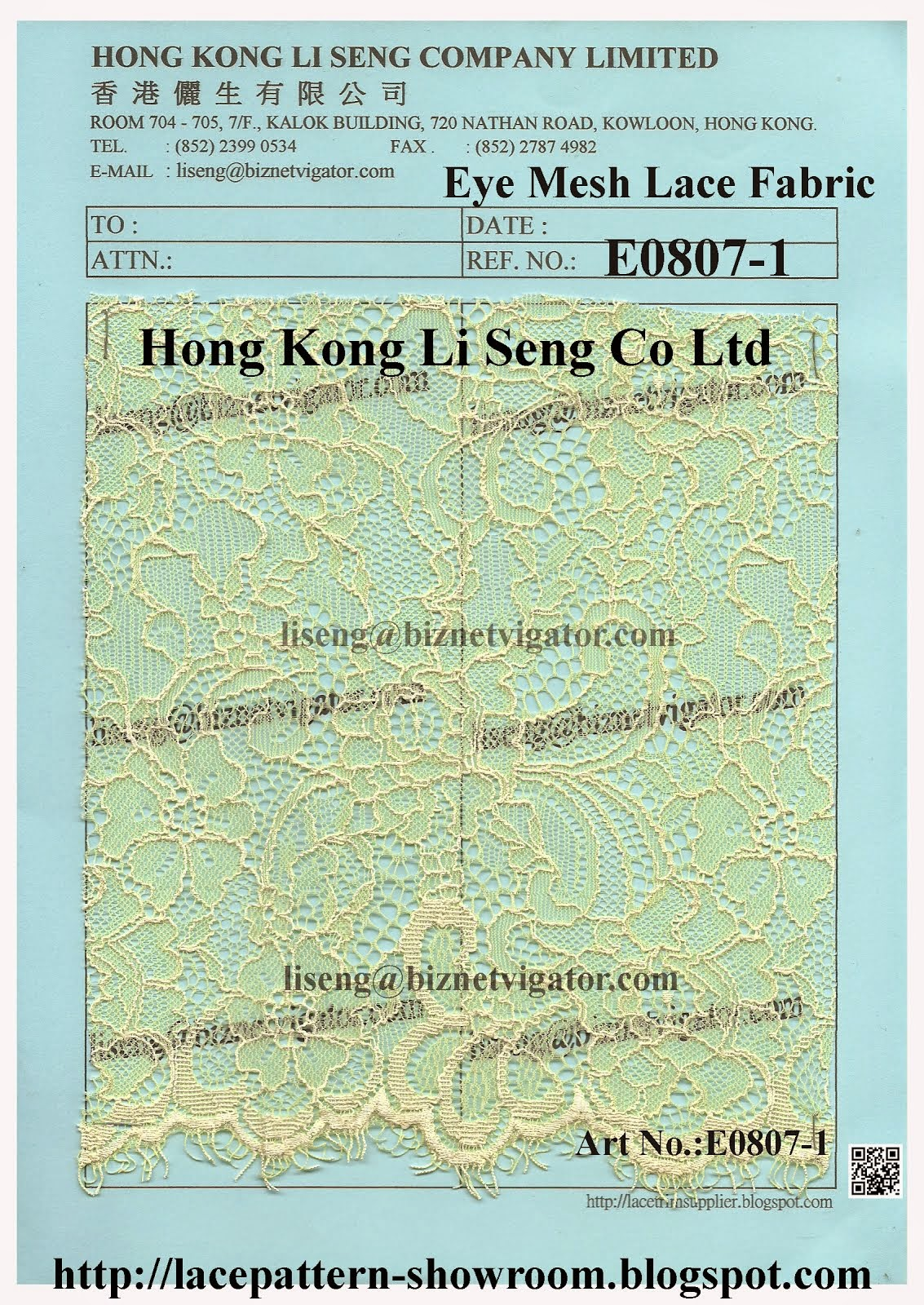 Eye Mesh Lace Fabric Factory - Hong Kong Li Seng Co Ltd